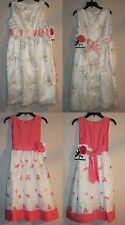 Girl Special Occasion Dress Holiday Party  Rosenau  Floral Pattern  retail $60
