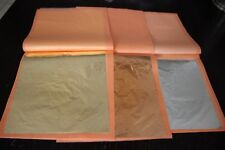 50-75-100-150-300 sheets imitation GOLD/SILVER/ Pure COPPER leaf sheets booklet