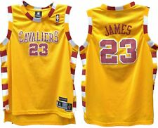 LEBRON JAMES CLEVELAND CAVALIERS NBA REEBOK HWC THROWBACK YOUTH JERSEY