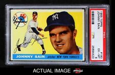 1955 Topps #193 Johnny Sain Yankees PSA 6 - EX/MT