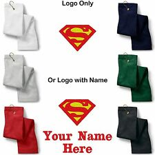 Superman Logo Embroidered Golf Sport Towel Reg. or Custom/Personalized