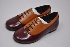 LUCCINI-  Girls Lace Up Dress Oxford Shoe Burgundy/Tan (4458) $85+