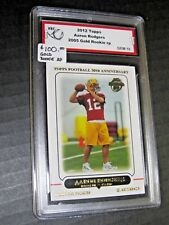 ($100) Aaron Rodgers 2005 Topps GOLD ROOKIE rp GRADED GEM MINT 10