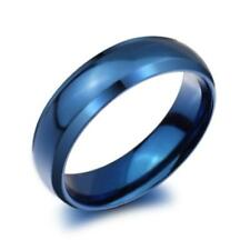 316l Stainless Steel 8mm Mens Ring 8/6mm in Black, Blue or Gold