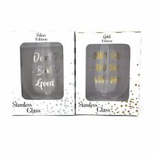 Leonardo Gold & Silver Edition 500ml Good Day Bad Day Don't Ask Wine Glass