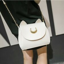 White Womens New Sailor Moon Shoulder Bags Fashion Cosplay PU Leather Handbags