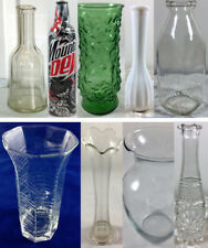 VINTAGE VASE or BOTTLE VARIATIONS: White, Green, Clear, Glass Flower Bud Vases