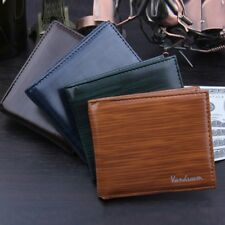 Men's Leather Wallet Pockets ID Credit Card Holder Clutch Bifold Purse US