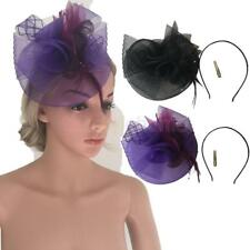 MagiDeal Feather Fascinator Headband Clip Hat Wedding Ball Party Prom Headpiece