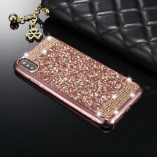 For iPhone X 10 Luxury Bling Glitter Diamond Soft TPU Skin Crystal Case Cover