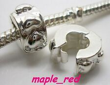 Fashion Silver Plated Copper Stopper Clip Fit European Charm DIY Bracelet DB9
