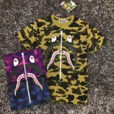 New Bape Men Casual Camouflage Short Sleeves Tops A Bathing Ape Japan Tee shirt