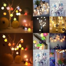 10-30LED Colorful Cotton Ball String Lights Christmas Wedding Party Fairy Lights