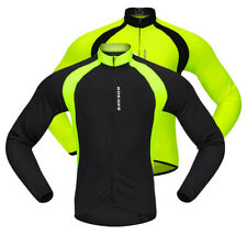 Windproof Cycling Bicycle Bike Breathable Jacket Long Sleeve Full Zip Jersey