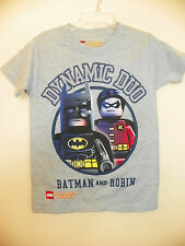 LEGO DC SUPER HEROES/DYNAMIC DUO-BOYS 4 thru 8-LICENSE SHORT SLEEVE-NWOT