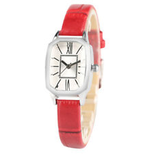 Stylish Women Girl Student Quartz Wrist Watch Leather Band Small Dial Gift