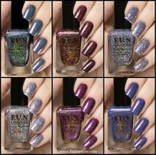 F.U.N Lacquer - 2016 New Year Holographic Nail Polish 12ml Purple Blue Gold