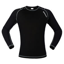 Perfeclan Cycling Long Sleeve Jersey Outdoor Sports Underwear Black White