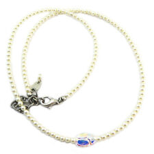 "Promo -29%, Lily-Crystal [P6693] - Collier artisanal ""Tsarine"" beige / blanc ..."