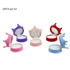 10PCS/lot Crown Flock Velvet Ring Display Box Earring Necklace Jewelry Case Gift