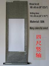 Empty Blank Chinese Japanese Calligraphy Painting Silk Vertical Wall Scroll 65""