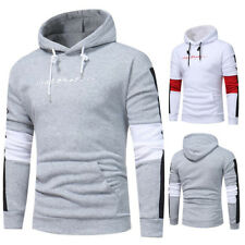 Stylish Mens Slim Fit Splice Top Designed Pullover Hooded Hoodies Jacket Coats