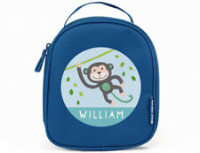 Swinging Monkey Insulated Lunch Bag / Box - Personalised for Boys & Girls