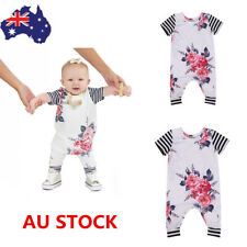Newbron Toddler Baby Girls Floral Bodysuit Romper Summer Sunsuit Outfits Clothes
