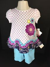 Baby Toddler Girls 2 Piece Set Top Brand Nursery Rhyme Shorts Brand Gymboree NEW