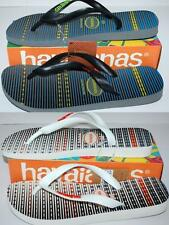 HAVAIANAS NEW Unisex THONGS flipflops TREND Grey Green, White Orange Thick Strap