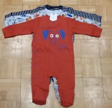BNWT Baby Boys Dogs Sleepsuits 3-6,6-9,9-12 months NEXT