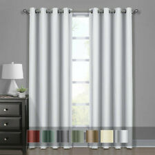 100% Blackout Panels - Diamond Jacquard Woven Drapes Theme, Thermal Insulated