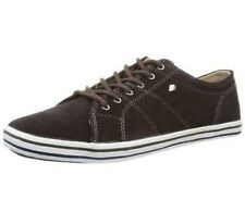 BK - Faux dk.brown, b32-3775-01, Men's Sneakers Suede Leather Dark Brown