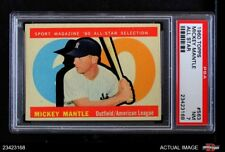1960 Topps #563 Mickey Mantle - All-Star Yankees PSA 7 - NM