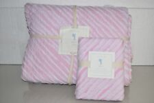 $235 NEW Pottery Barn Kids 2 PC BAILEY Quilted TWIN QUILT + STANDARD SHAM Pink