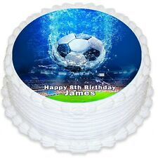 Soccer World Cup Round Edible Icing Cake Topper - PRE-CUT