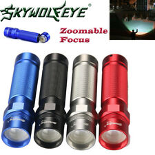 Zoomable 9000LM Flashlight T6 LED Police Torch Camping Hiking Tactical AA Focus