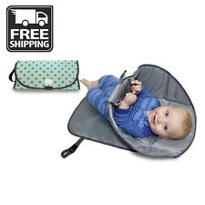 New Portable Clean Hands Changing Pad Kids 3-in-1 Diaper Clutch Changing Green