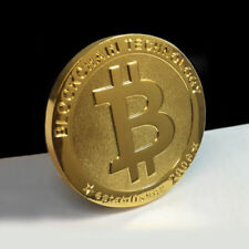 NEW Physical Real 1oz BITCOIN Gold Plated 38mm Collectible BTC Coin Crypto