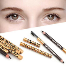 Leopard Print Makeup Double Ended Eyebrow Pencil Brush Handy Cosmetic Divine