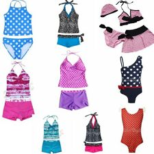 Girls Swimming Costume Kids Bikini Swimwear Tankini Swimsuit Bathing Suit set