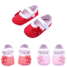 0-18Months Kids Baby Girl Flower Crib Shoes Soft Sole Leather Prewalker Sneakers