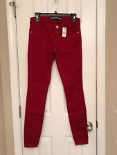 NWT Womens Express Stella Red Brick Jean Leggings Sizes 0R and 2R