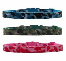 "Blue green pink "" Camouflage "" chihuahua dog puppy collar & or lead"