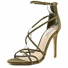 Steve Madden Womens Strapped Leather Open Toe Casual Strappy Sandals