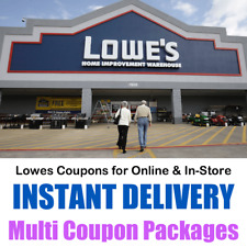 Lowes Coupons - Online & In-Store Purchase - Multi Coupon Packages