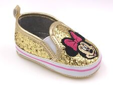 Baby Disney Minnie Mouse Crib Shoes Gold Sparkle Licensed 3-6M 6-9M 9-12M
