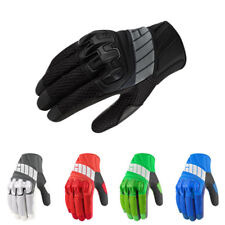 Icon Overlord Mesh Goatskin Leather Palm Motorcycle Riding Gloves