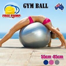 Anti Burst Swiss Yoga Ball   Home Gym Fitness Pilates Exercise Balance w/ Pump