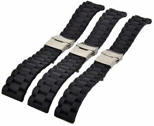 Silicone Divers Strap 20-22-24MM Divers Watchband Folding Clasp Watch Strap